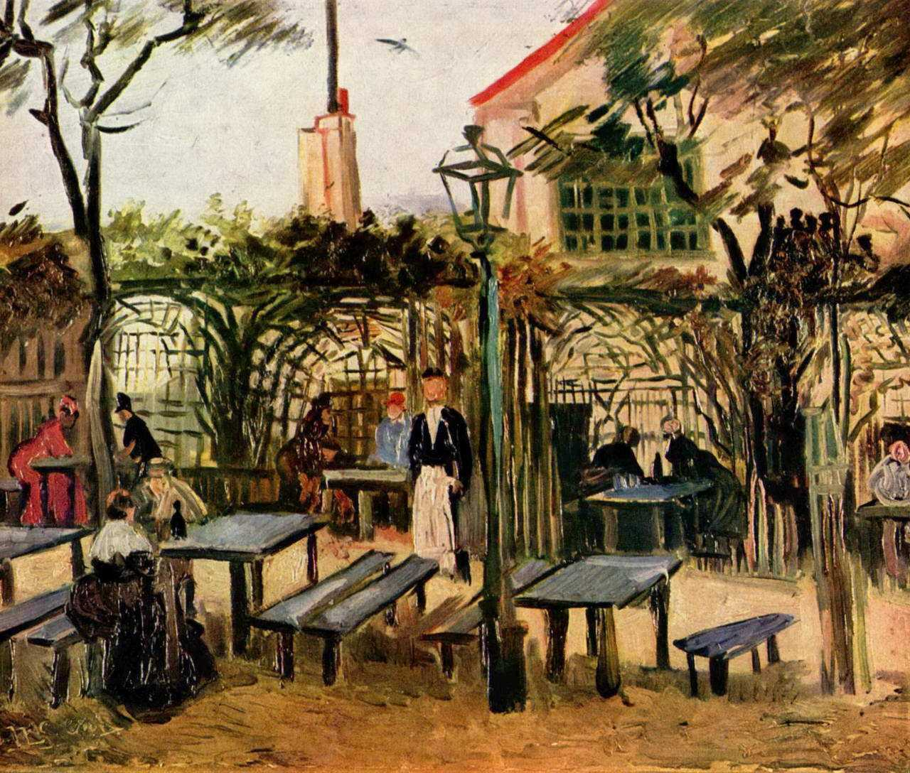 Винсент Виллем. Кафе под открытым небом Генгетт на Монмартре. 1886 год