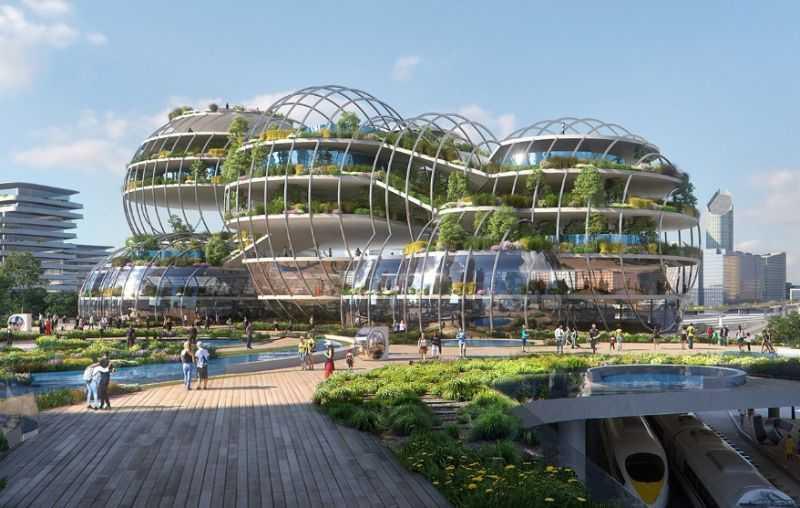 бюро UNStudio поделилось своим видением «Города будущего» нового инновационного района Гааги.