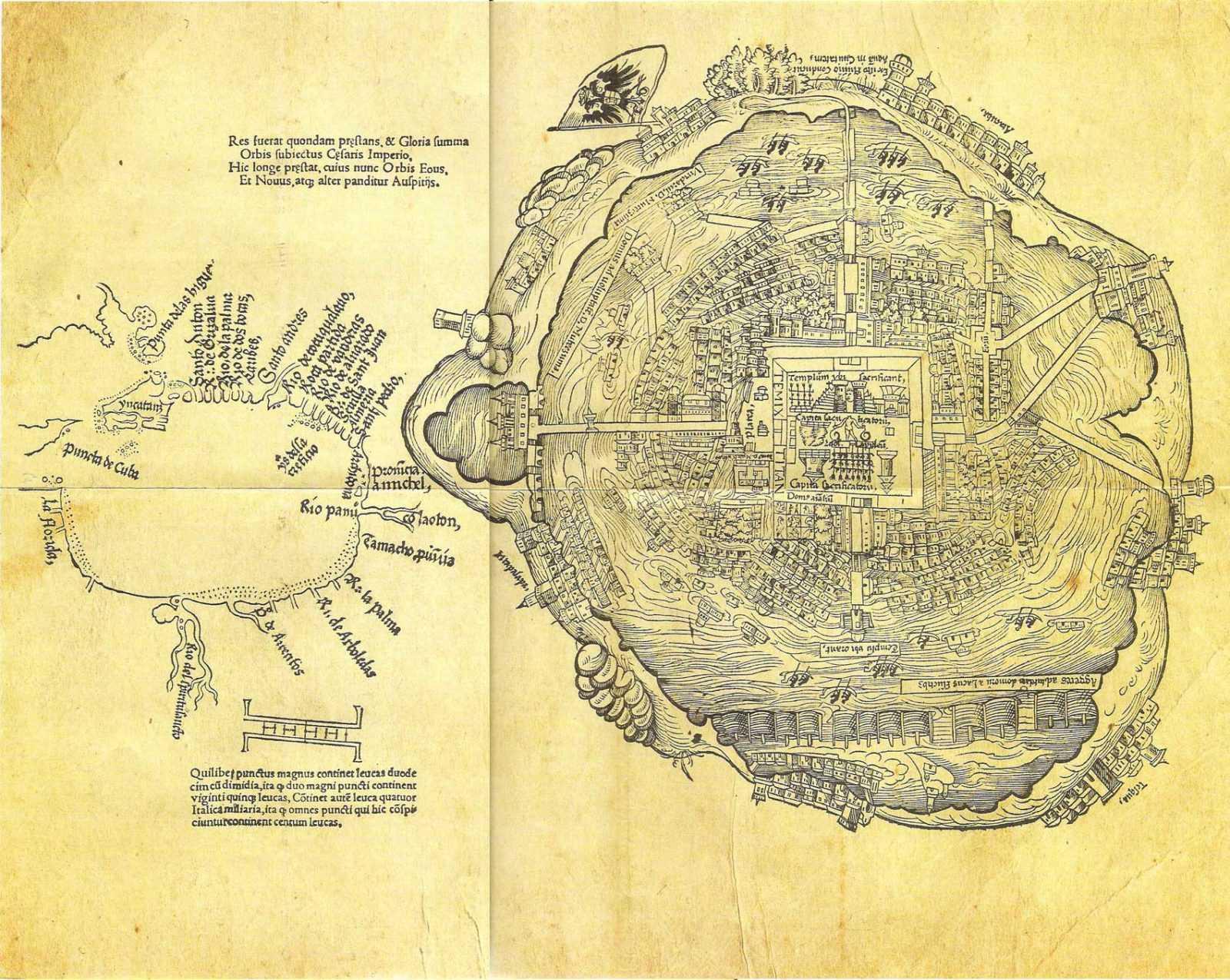 Теночтитлана столица империи Ацтеков 1519г.
