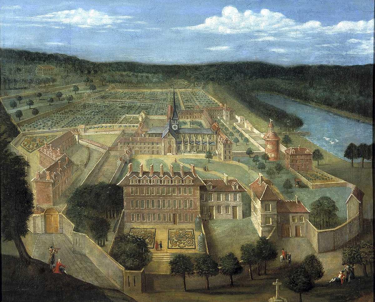 Общий вид монастыря Пор-Рояль-де-Шан (фр. Port-Royal-des-Champs) в 1674 году