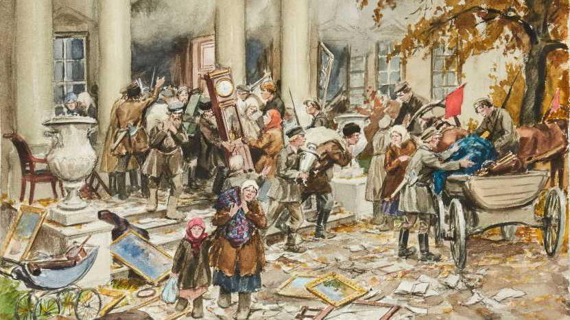 1917 года. Разгром усадьбы e1574364046725 - Трагедия о Гамлете, принце Датском, Л.С. Выготского