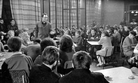 1967 год Новосибирск. Выступление Г.П. Щедровицкого в кафе клубе  Интеграл