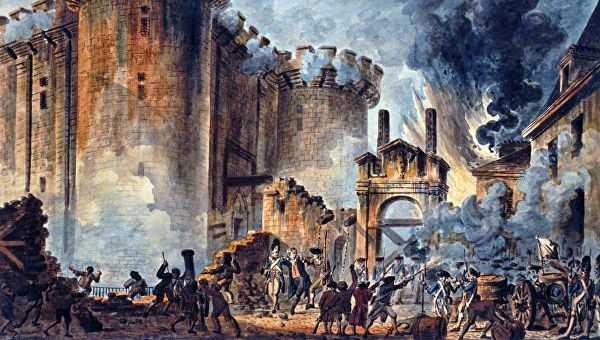 Штурм крепости-тюрьмы Бастилия 14 июля 1789 года