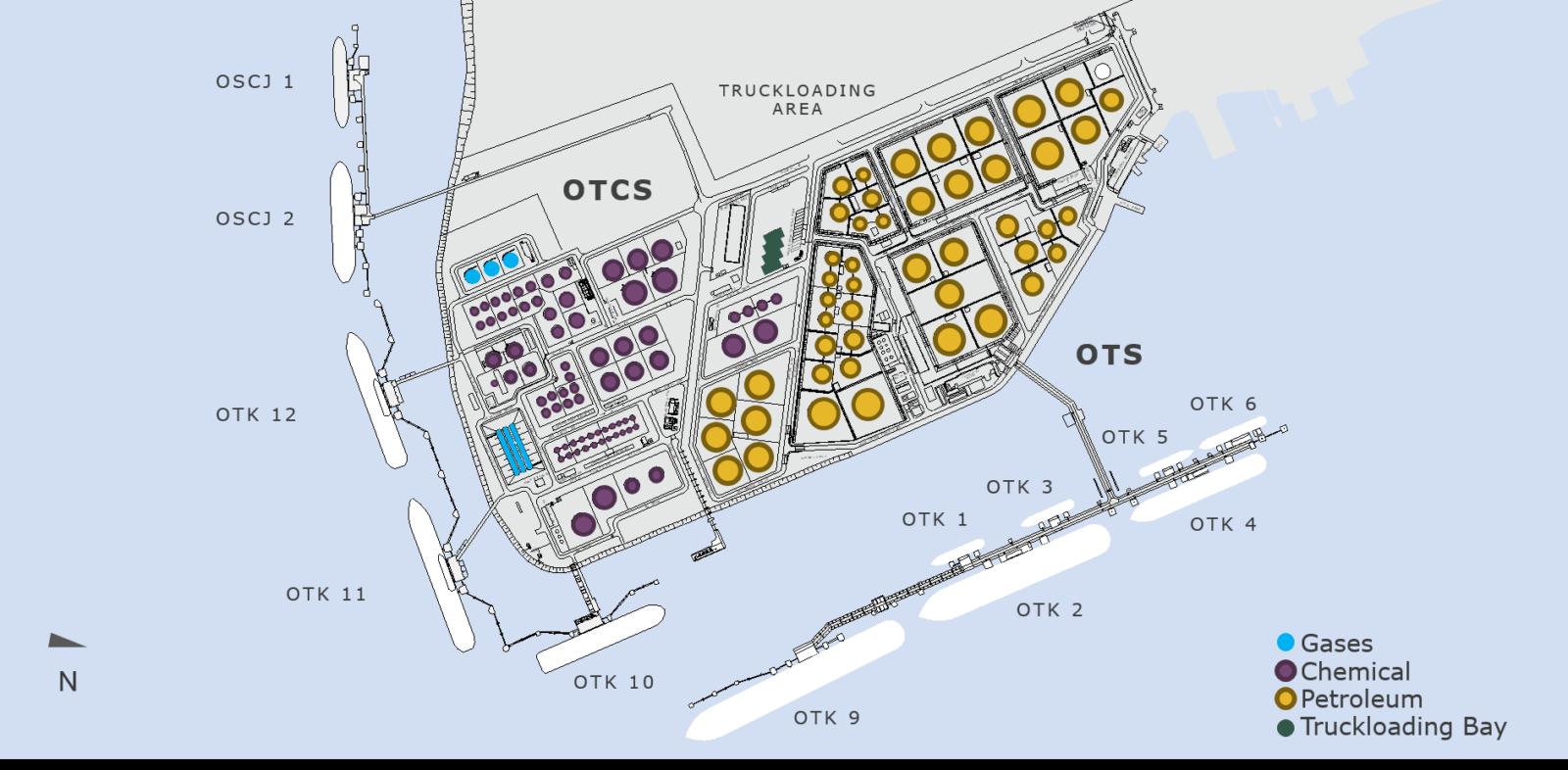 Jurong Island карта