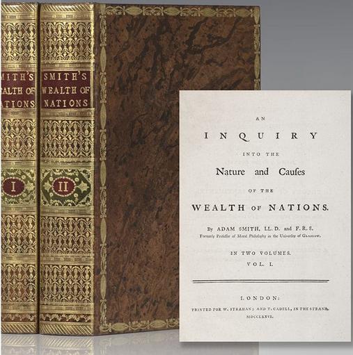 Адам Смит «Исследование о природе и причинах богатства народов», 1776
