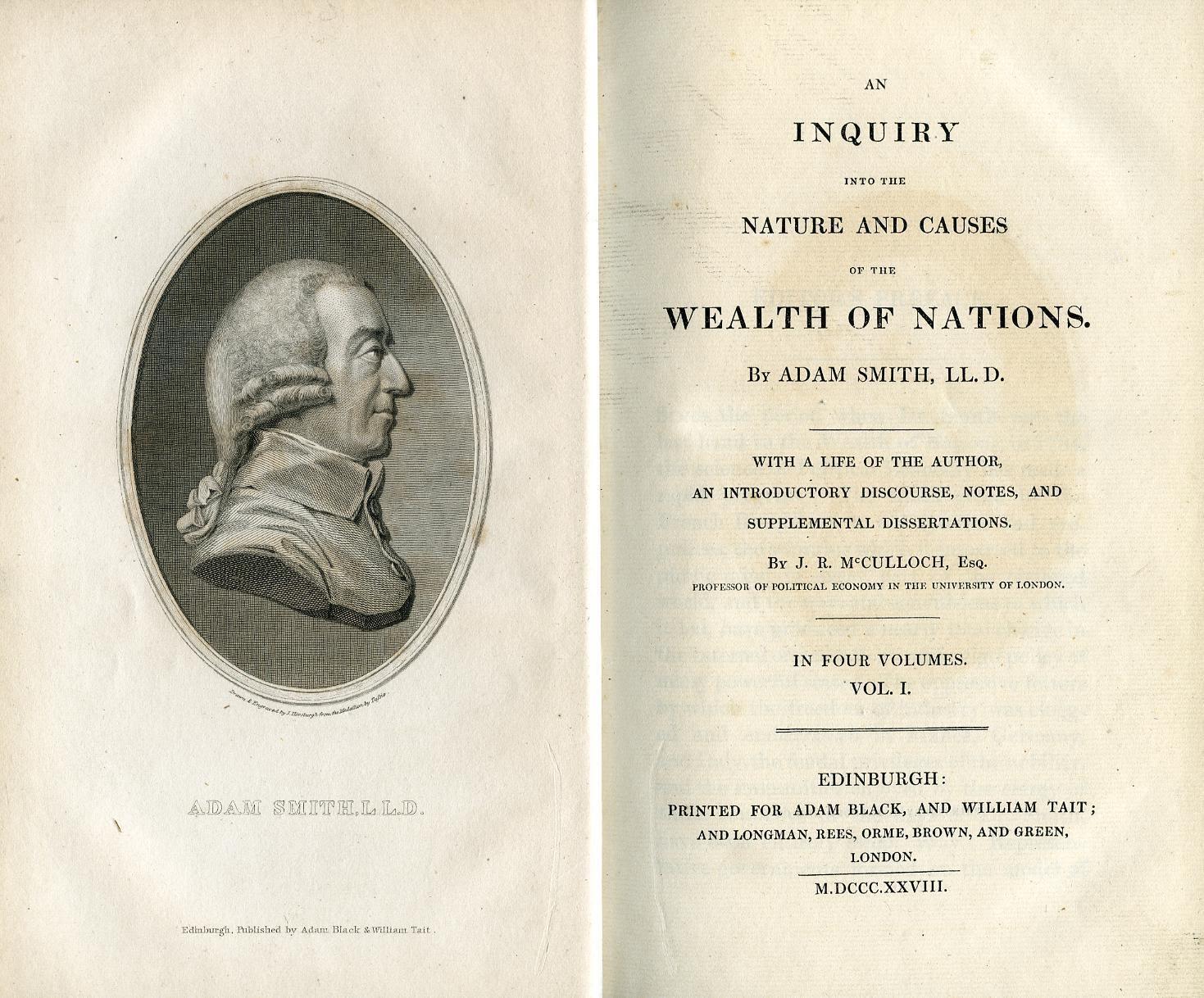 Адам Смит о природе и причинах богатства народов