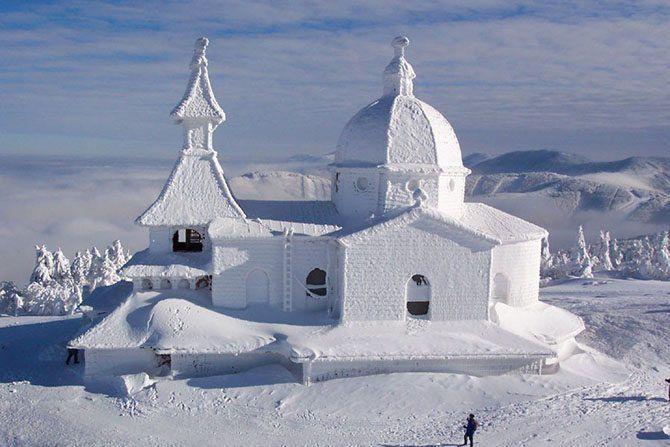 город Верхоянск - самый морозный