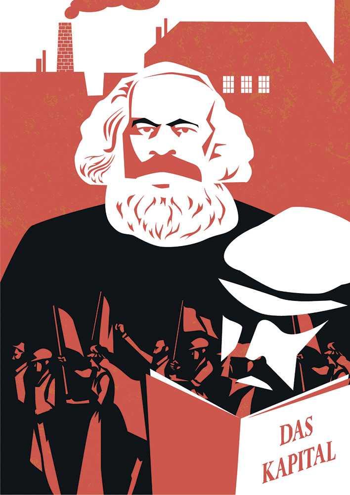 плакат - карл маркс капитал
