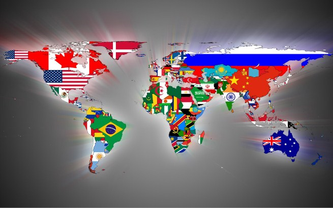 национальные государства на карте
