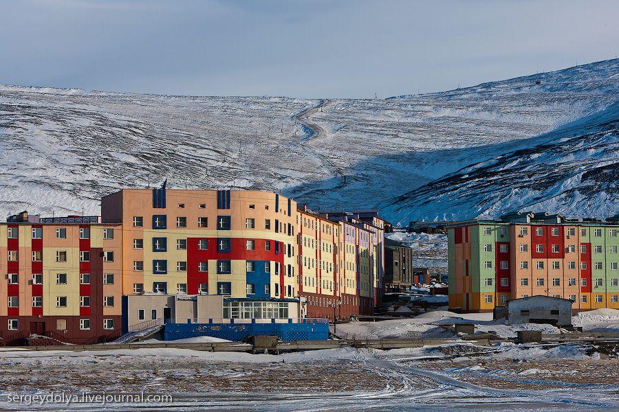город Певек (Чукотка) - холодный климат