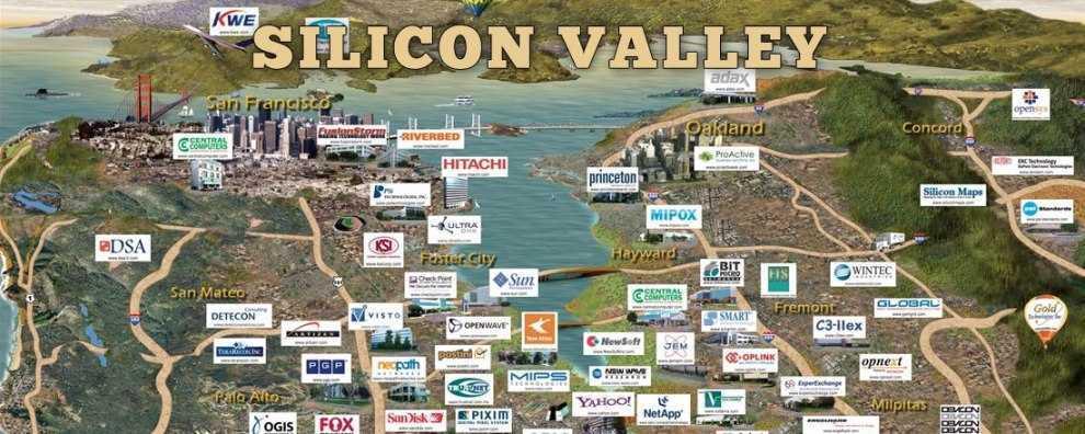 карта-размещения компаний кремниевой_долины
