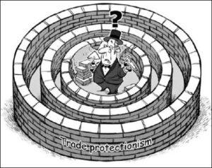 протекционизм карикатура