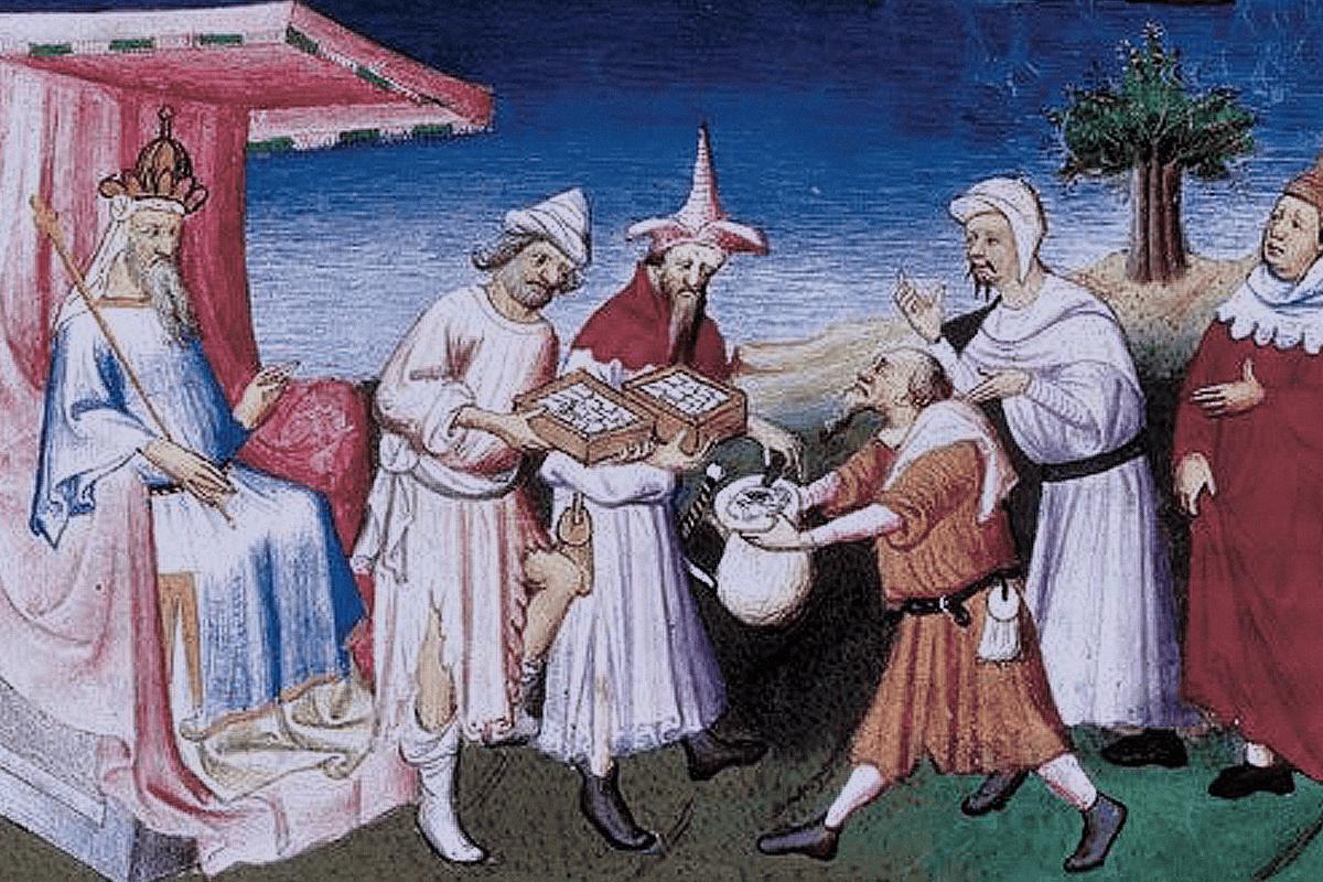 сбор налогов в городе средние века