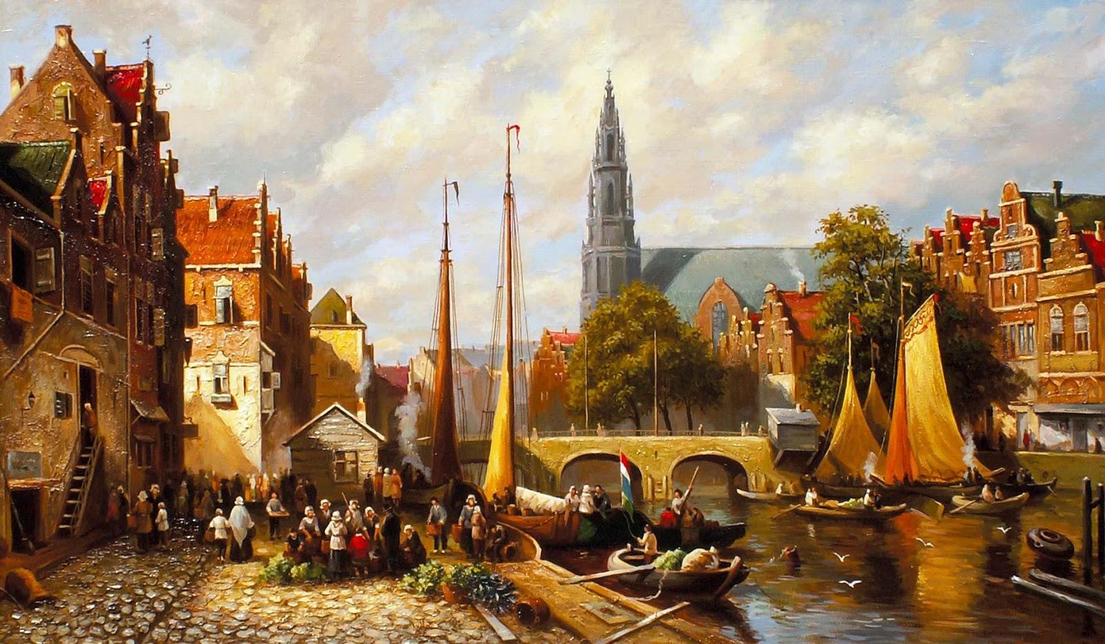 средневековый амстердам - набережная