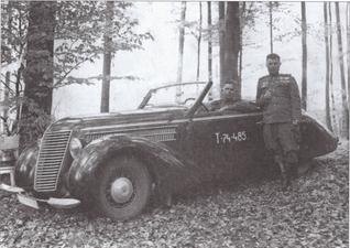 Трофейная машина «Штеер» командира полка П.Г. Мжачих