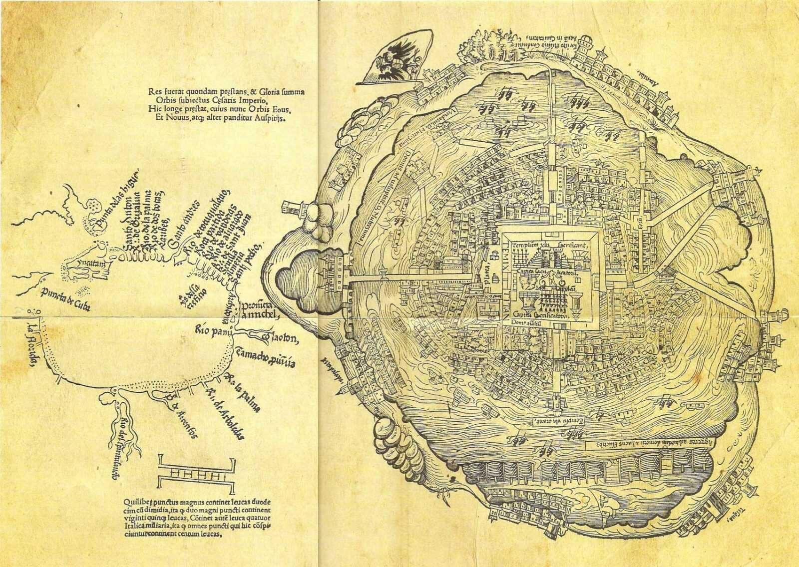 План города Теночтитлана (столица Ацтеков)