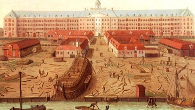 Верфь в р-не Заана, 1650 г