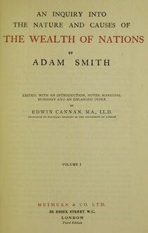 Адам смит о природе и причинах богатства народов обложка книги
