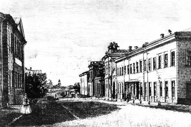 Императорский харьковский университет рисунок