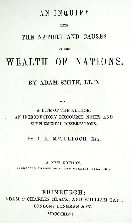 Adam Smith - wealth of nations book about division of labor